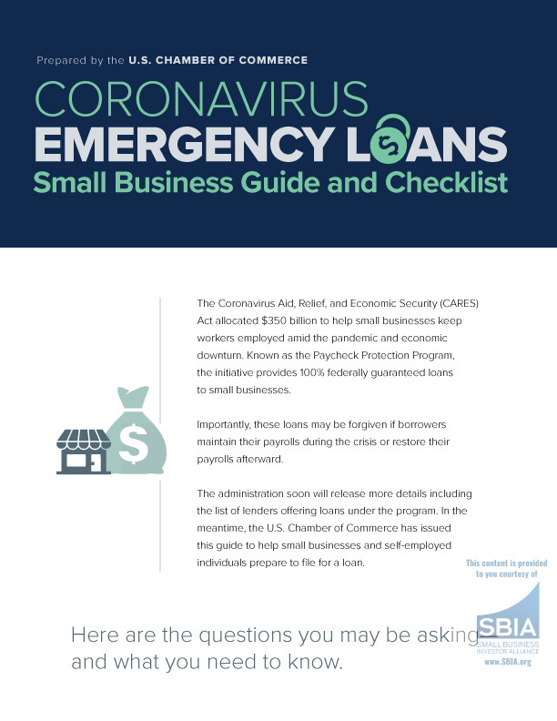 CORONAVIRUS EMERGENCY L ANS Small Business Guide and Checklist